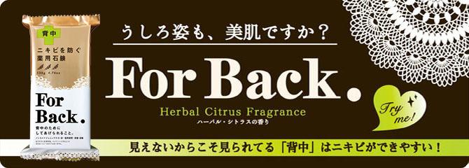 ニキビを防ぐ 薬用石鹸 For Back