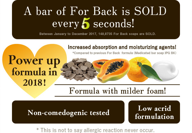 A bar of For Back is SOLD every 5 seconds!